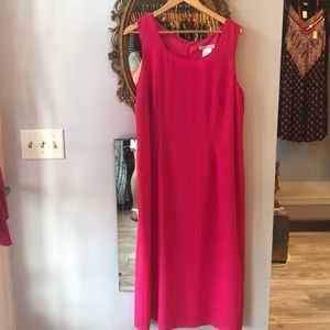 Plaza South Size 16 Hot Pink Sleeveless Dress